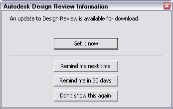 Design Review Update Msg