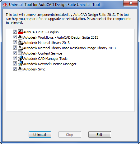 Without A Net: Uninstall Tool for AutoCAD Design Suite 2013